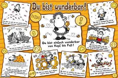1000 teile puzzle sheepworld du bist wunderbar. Black Bedroom Furniture Sets. Home Design Ideas