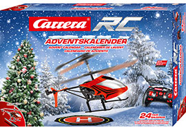 Advents-Kalender mit 2,4 GHz RC Helicopter / Carrera