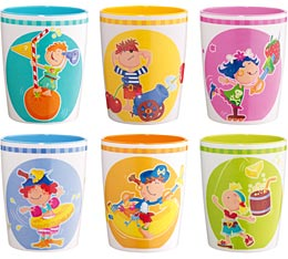 Melamin-Becher-Set Piratenparty / Haba